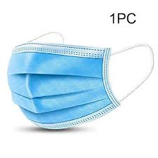 100/50/30/20/10/5/2/1PCS For All People 3 Layers Blue Disposable ...
