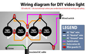 electrical lighting wiring diagrams   collection wiring circuits    diy video light  wattequivalent for  all