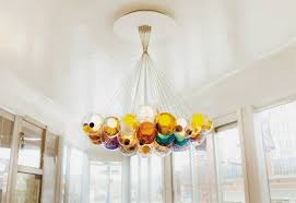 beautiful and modern pendant light made of glass orbs blown glass pendant lights