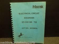 mazak mazak electrical circuit diagrams qt 15n 18n t32 set no 34104ka