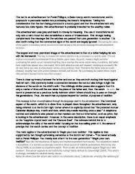 patek philippe magazine advertisement analysis    a level media    page
