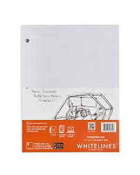 whitelines writing paper and notebooks white lines engineering pad 8 5 x 11 squared
