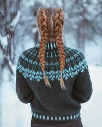 — Winter braids #winter #braids #alafosslopi #knitting #knit ...