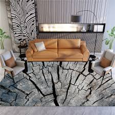 <b>3D Wood Grain</b> Sofa Area Rug Flannel Anti slip Balcony Bedroom ...