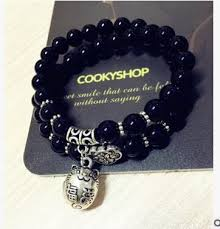 Black Onyx Multilayer <b>Lucky Cat Bracelet</b> – SimpleShop247