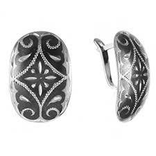 <b>Серьги</b> из матового серебра: цена, каталог - купить серебряные ...
