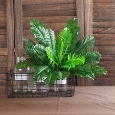 1 Bunch 18 Heads Artificial <b>Silk Plants Cycas Palm</b> Tree Garden ...