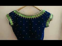 High Collar <b>Chinese</b> Blouse <b>Designs</b> For <b>Party</b> Wear Sarees ...