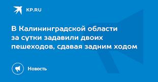 В Калининградской области за сутки задавили двоих пешеходов ...