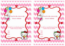 hello kitty birthday printable hello kitty birthday invitations