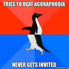 Tries to beat agoraphobia Never gets invited - Socially Awesome ... via Relatably.com