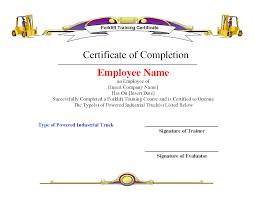 forklift training certificate template template forklift training certificate template