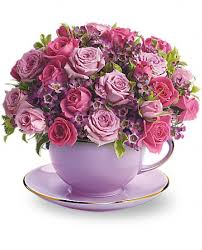 Image result for flowers in a cup