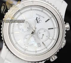 mens diamond watches kc techno com soicyjewelry com 0 15ct mens techno com by kc diamond watch white ceramic