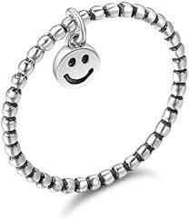 <b>Hot Sale</b> 100% 925 Sterling Silver Lovely Smile Face Dangle Finger ...