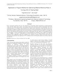 (PDF) Application of Taguchi Method for Optimizing Material ...