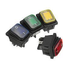 <b>1pcs</b> 16a 250v 4pin <b>waterproof</b> rocker <b>switch</b> with lamp light dpst on ...