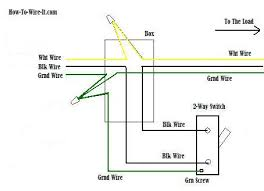 wiring a 2 way switch 2 way switch ground connection diagram