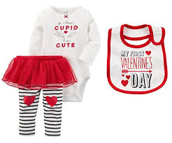 <b>Carters Baby</b> Girls First Valentines Day Bodysuit With Tutu <b>Pants</b> ...