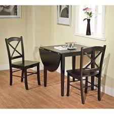 three piece dining set: simple living black  piece country cottage dining set