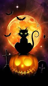 <b>Halloween</b> - Under the Moon, with Bat, Cat, Spider 'n Web, <b>Tomb</b> ...