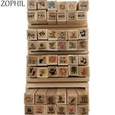 <b>ZOPHIL Wooden Scrapbooking Stamping</b> DIY Crafts Painting ...