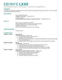 childcare resume examples  amp  samples   livecareerebonye l    daycare resume   atlanta  georgia