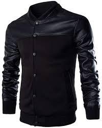 dextrad fashion-hoodies Cool Baseball Jacket <b>Men</b> Black <b>Pu</b> ...