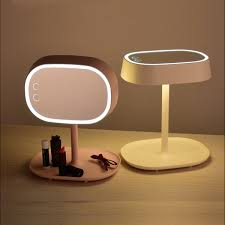 <b>Creative 2-in-1</b> Make Up Mirror Desk Lamp Touch Switch LED ...