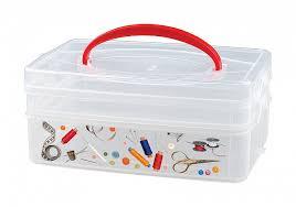 <b>Коробка универсальная</b> с ручкой и декором Multi <b>Box</b> (2 секции ...