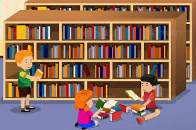 Image result for cartoon pictures of school library
