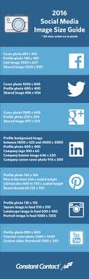 constant contact social media image guide pagemodo constant contact 2016 social media image guide pagemodo com