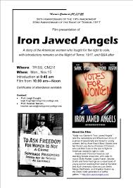 women s studies at takoma park silver spring presents iron jawed women s studies at takoma park silver spring presents iron jawed angels 15