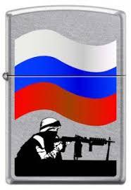 <b>Зажигалка ZIPPO</b> Защитник Отечества <b>207 RUSSIAN SOLDIER</b>