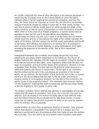abortion essay   ethics