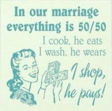 GOTBOC MAGAZINE: Husband Quote: In Our Marriage Everything is 50/50...