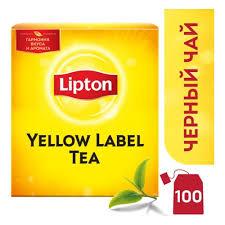 <b>Чай Lipton чёрный</b> Yellow Label, 100 пакетиков — купить в ...