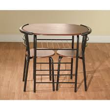 three piece dining set: bistro dining set kitchen table chairs  piece room wood apartment small pub new whats it worth