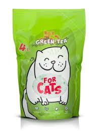 Силикагелевый <b>наполнитель For Cats</b> с ароматом зеленого чая ...