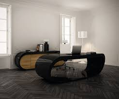 executive desk office design babini coolest office desk in round design a fabulous office desk design in black and brown color for a modern interior in awesome office furniture ideas