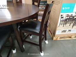 seven piece dining set: bayside furnishings  piece counter height round dining set costco