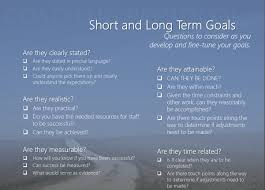 short and long term goals rubicon 20 apr short and long term goals