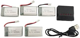 Fytoo Quadcopter Accessories <b>5PCS 3.7V</b> 600mah <b>Lithium</b> Battery ...