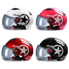 byb <b>motorcycle helmet scooter</b> bike <b>open</b> face half baseball cap anti ...