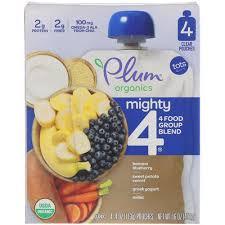 Plum Organics <b>Mighty 4</b> Banana Blueberry