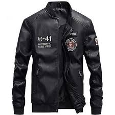 <b>PU Leather Military</b> Jacket | Men,s Style in <b>2019</b> | Pilot leather jacket ...