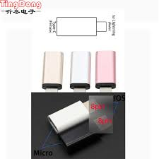 <b>2pcs For iPhone</b> to Micro USB / Type C <b>Charger Adapter</b> Female to ...