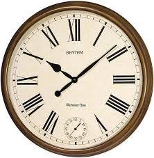 Деревянные <b>настенные часы Rhythm CMH721CR06</b> с боем ...