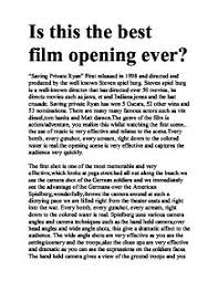 saving private ryan   gcse english   marked by teachers compage  zoom in