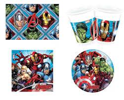 Disney <b>Marvel</b> Мстители Набор одноразовой <b>посуды</b> для ...